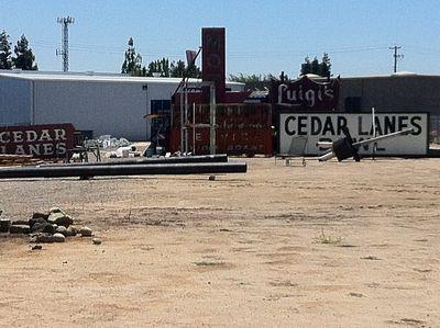 Cedar lanes signs