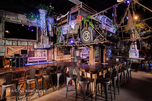 Monster City Studios - Indiana Jones theme man cave, Fresno.